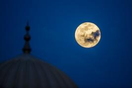 Full moon over Arabia